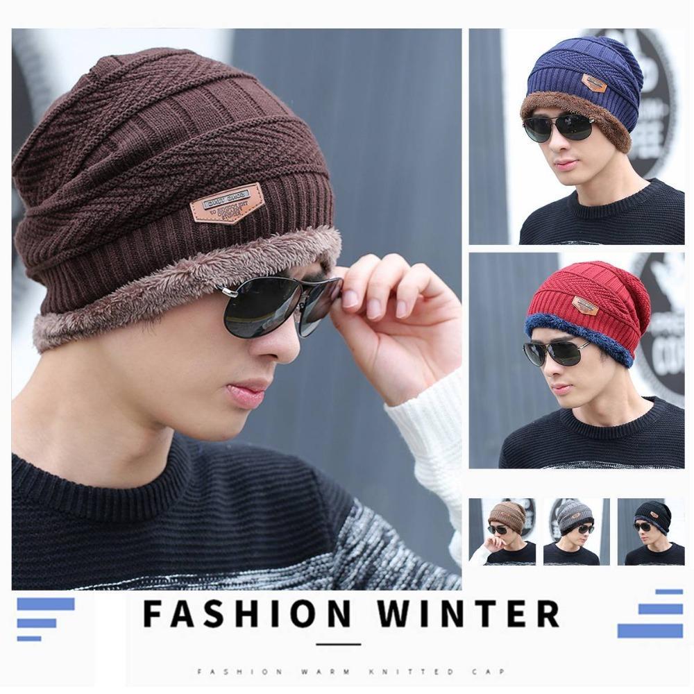 15b75d5e3ed 2019 2018 Winter Men S Soft Knitted Cap Warm Fleece Velvet Wool Russia Hat  Winter Outdoor Thick Ski Beanies From Yangmeijune