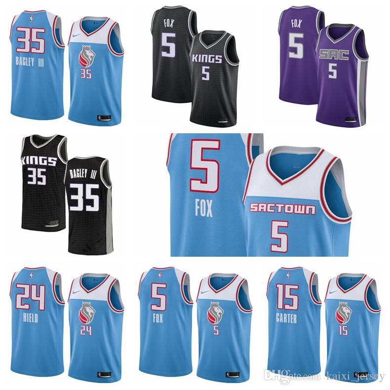 2019 2018 2019 Sacramento Men S Kingss Jersey Swingman Basketball Jersey 5  De Aaron Foxs 35 Marvin Bagley IIIs From Double angel 061eda239