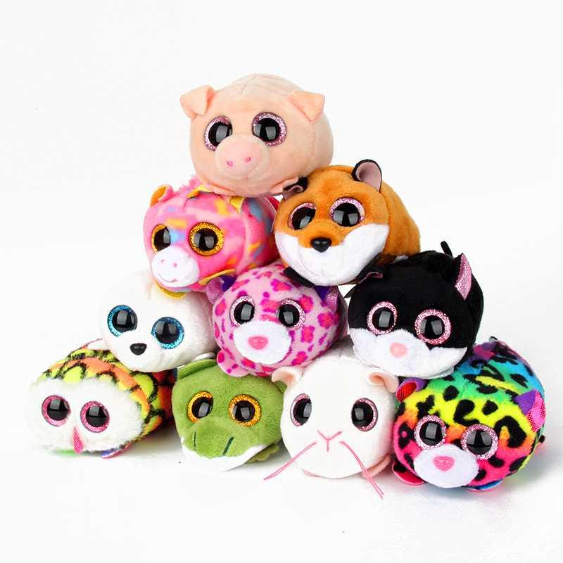 8f562baee8e 2019 10CM Mini Original Ty Plush Toys Beanie Boos Big Eyes Fox Unicorn Pocket  TSUM Candy Pig Stuffed Doll Pink Owl TY Baby Kids Gift From Thunderwest