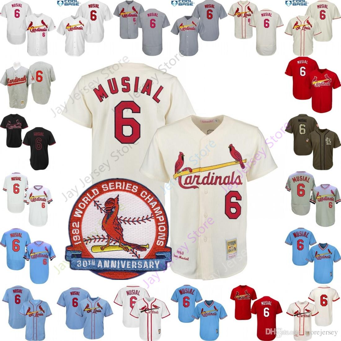 buy popular 4f138 ac291 Stan Musial Jersey Men Women Youth Cardinals Cooperstown St. Louis Jersey  Home Away Cream White Grey Black Blue