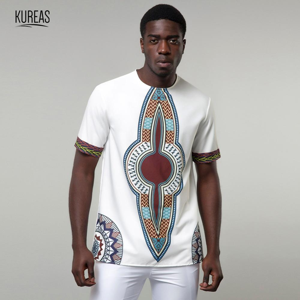 a6debb54c4bc Kureas Men's Dashiki T-Shirt Traditional African Print Casual Tee Tribal Fashion  Clothing Summer Tops Short Sleeve