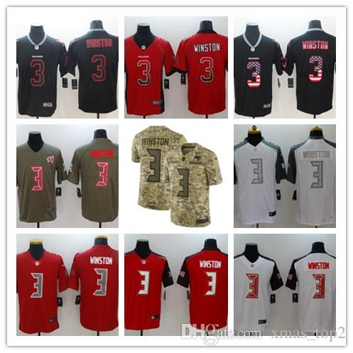 Hot Mens 3 Jameis Winston Jersey Tampa Bay Buccaneers Football Jersey  hot sale