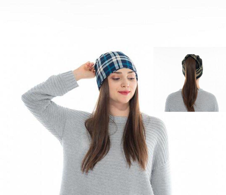 ebc475b1e Winter Hat Girl Ponytail Beanie Hat Ring Warm Skull Beanies Ponytail Cap  Scarf Multifunctional hat LJJK1149