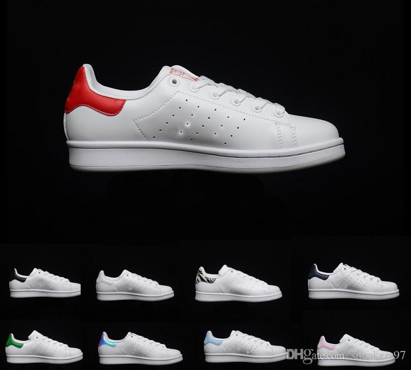 size 40 eeb12 d6615 ... Shoes Aire Libre Moda Smith Hombres De Calidad Superior De Las Mujeres  Pisos Clásicos Nuevos Bajos De Cuero Casual Zapatillas Deportivas Zapatos  Tamaño ...