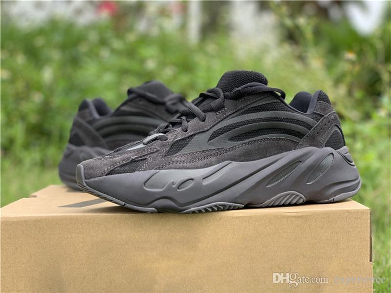 2019 Originals Boost 700 V2 Vanta 3M Reflective Black Static Wave Runner  Grey Kanye West Man Woman Running Shoes Outdoor Sneakers FU6684