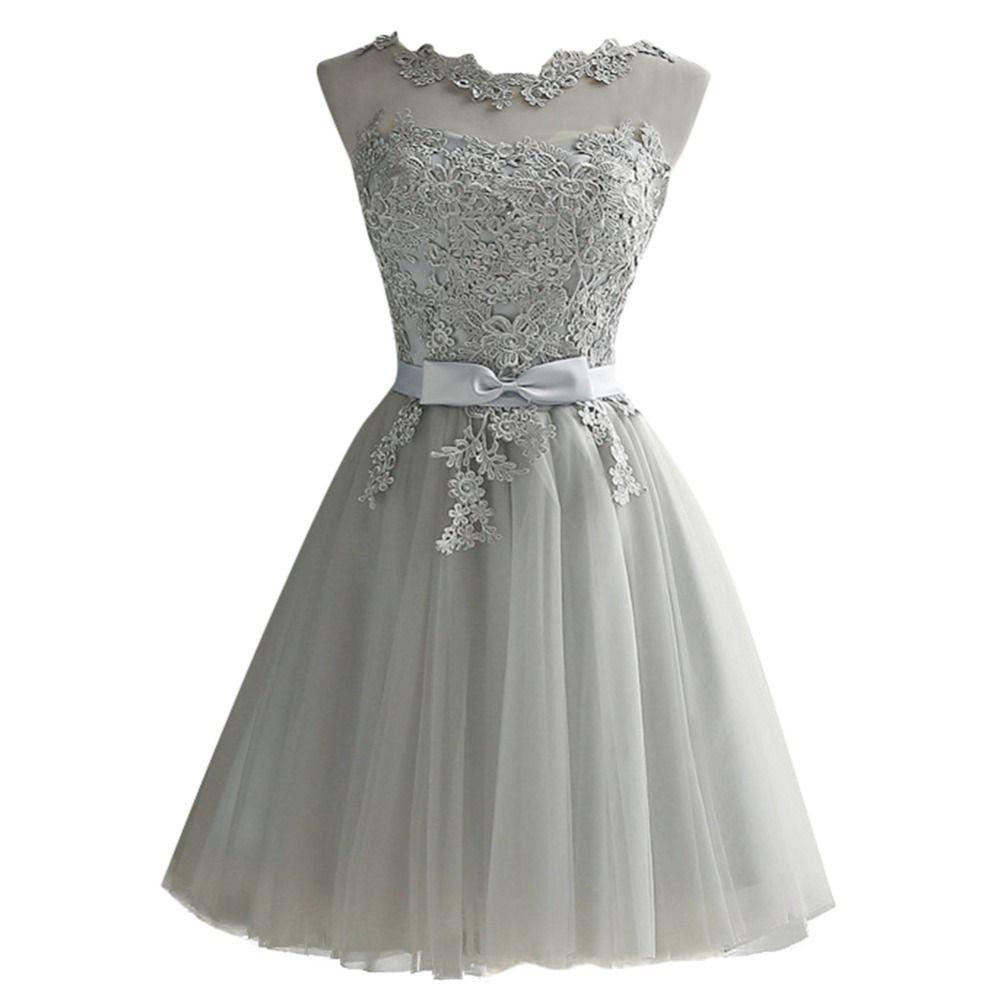 5bf286f24d Compre Mulheres Vestido De Renda Bordado De Malha De Tule Fino Elegante  Senhora Princesa Dama De Honra De Casamento A Linha De Vestidos De Festa  Feminina ...