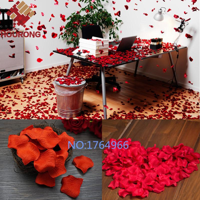 Top Quality 1000pcs Silk Rose Flower Petals Leaves Wedding Decorations Party Festival Table Confetti Decor Artificial & Dried Flowers Festive & Party Supplies