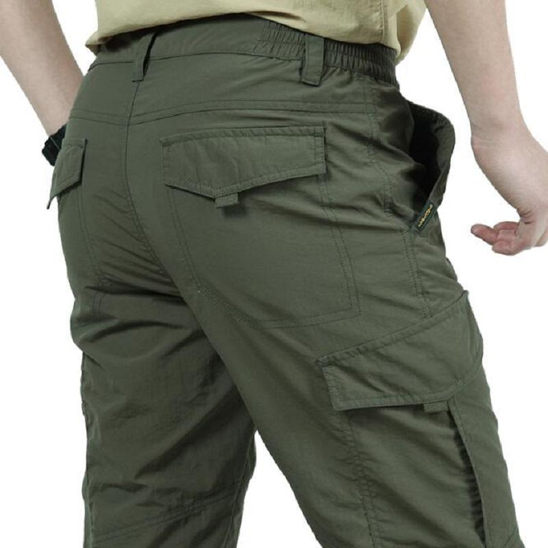 Quick Dry Cargo Pants Men Autumn Army Military Trousers Men s Tactical  Pockets Cargo Pants Male Lightweight Waterproof Men Pants High Quality Cargo  Pants ... 0764b5a13