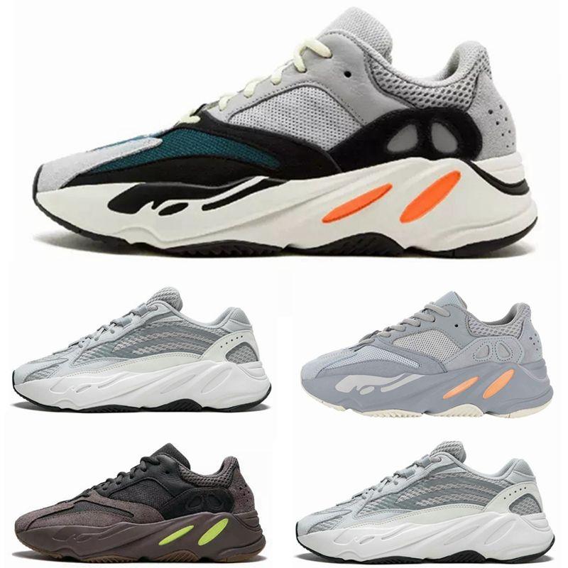 finest selection e8005 81bad Acheter 2019 Hommes 700 V2 Inertia Statique Mauve Chaussures De Course  Kanye West Wave Runner Sport Entraîneurs Baskets Femmes En Plein Air  Jogging ...