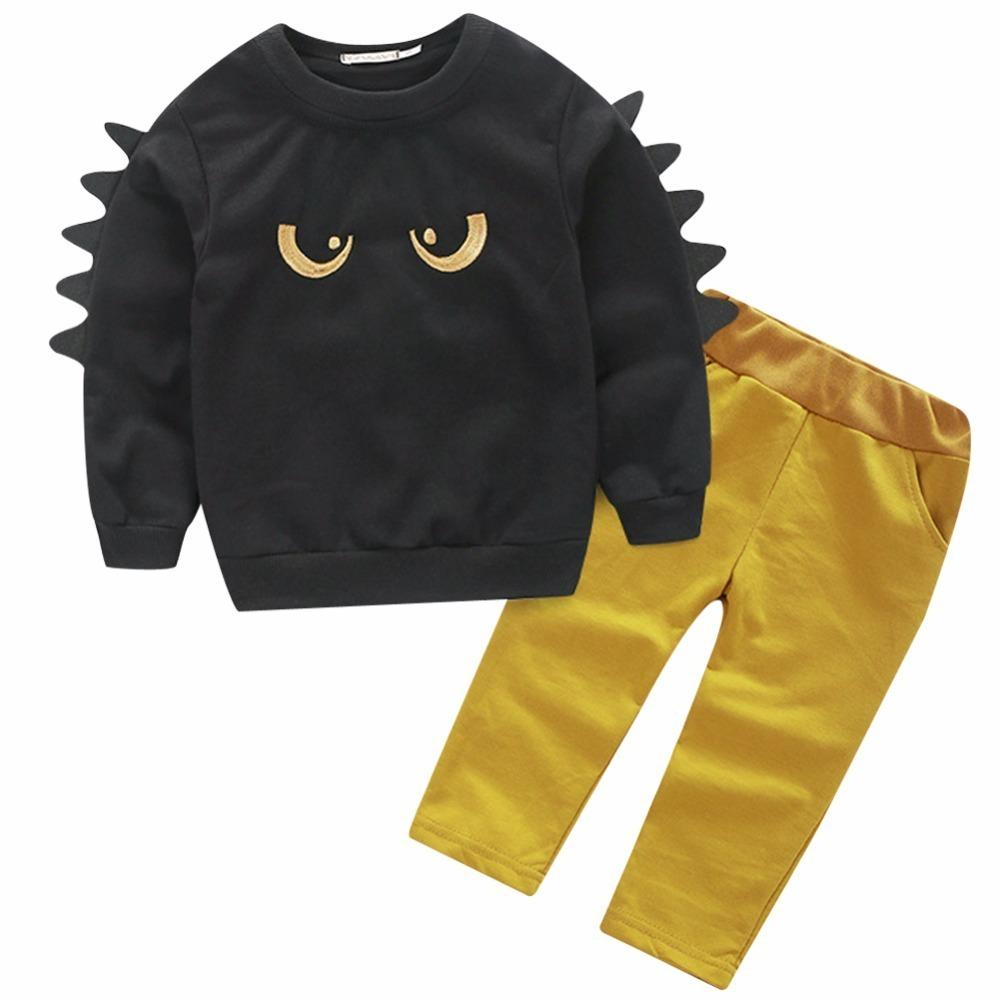 b286b605d 2019 Fashion Autumn Boys T Shirt Pants Sets Kids Clothes Long Sleeve Boy  Tops Trousers Tracksuit Children Clothing Baby Suit 0 5T From Textgoods03,  ...
