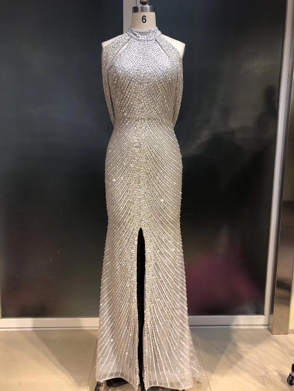 06d437ab945 2019 Fabulous New Design Long Evening Dress 2019 High Neck ...