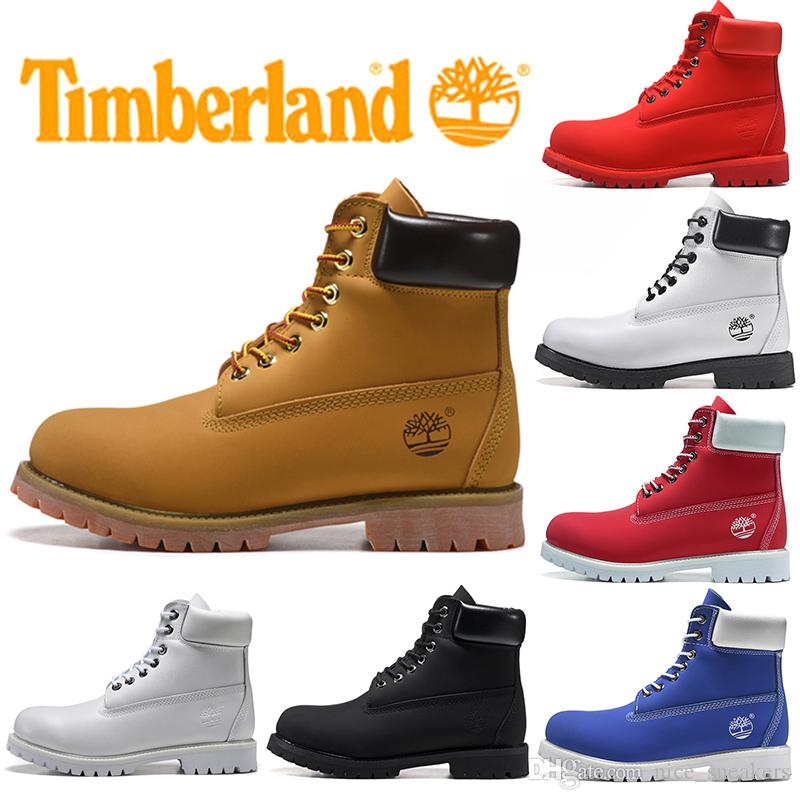 Timberland Boot For Men Women Casual Winter Boots Triple Black White Red Fashion Mens Trainer Hiking Outdoor Sneaker Free Shipping
