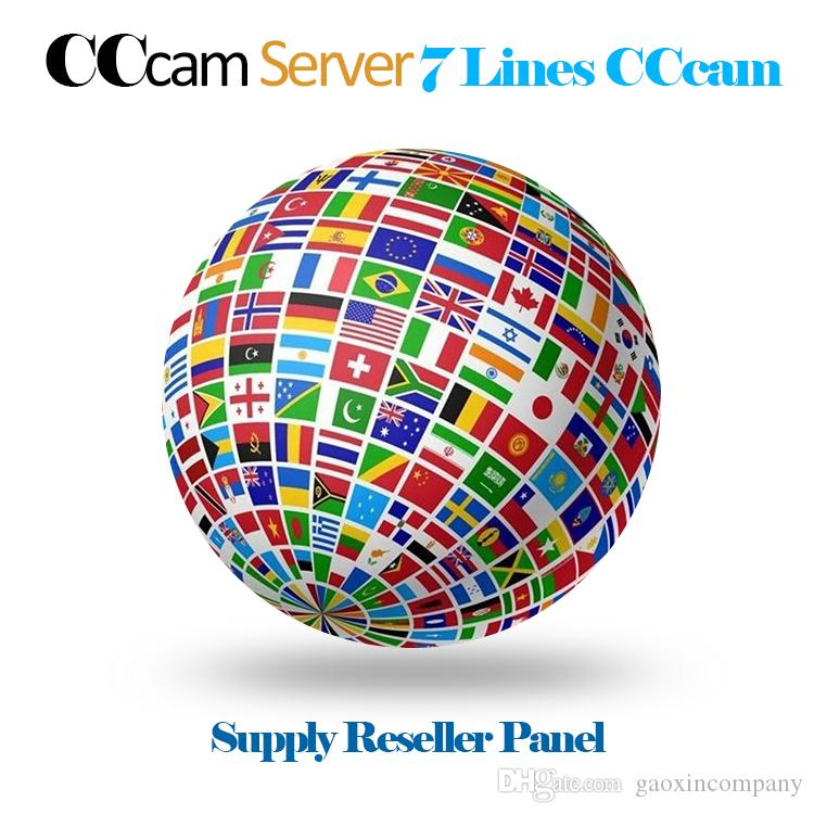 Cccam Cline with 1 year subscription 7 clines Europe UK Italy Spain Germany  IKS account support free trial For CCCAM Receiver Free IPTV