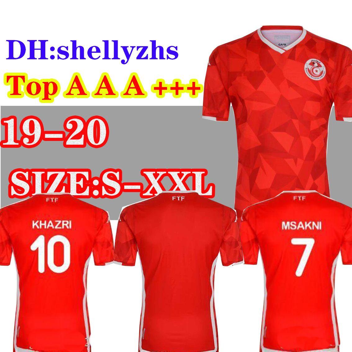 db77cf3bd 2019 Size S XXL 2019 Tunisia National Team Soccer Jerseys 19 20 Msakni  Khazri Sliti Wahbi Khaoui FAKHREDDINE BEN YOUSSE HAMZA Football Shirt From  Shellyzhs
