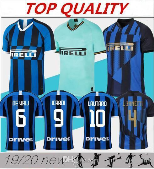 new product 03fc0 2c214 ICARDI LAUTARO 2019 2020 Inter Milan soccer jersey Mushup 20th anniversary  PERISIC NAINGGOLAN jerseys 19 20 football shirts
