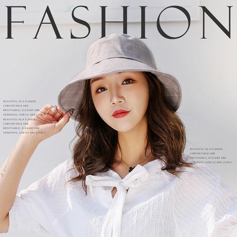 e98126d2824 New Spring Summer Soft Bucket Hat Female Sun Hat Beach Fisherman Hats For  Women Fold Able Brimmed With Big Bow Knot Cotton Fedora Hat Bowler Hat From  ...