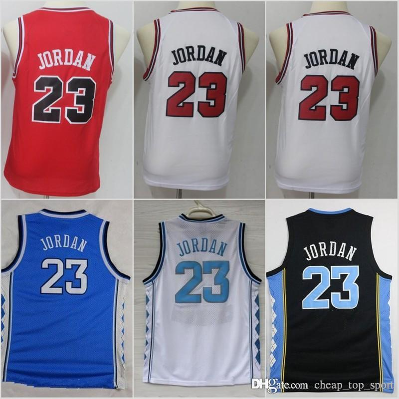 ae3d4bc8875091 2019 Youth Kids Chicago Michael 23 Bulls Jerseys North Carolina Tar ...