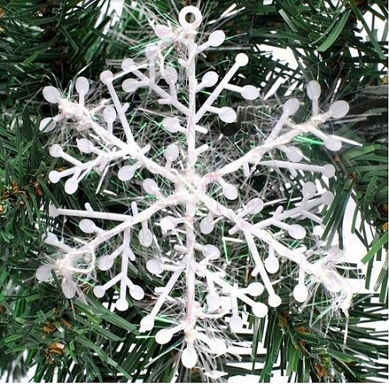Snowflake Christmas supplies Size 11x11 cm Christmas decoration white Christmas hanging decoration