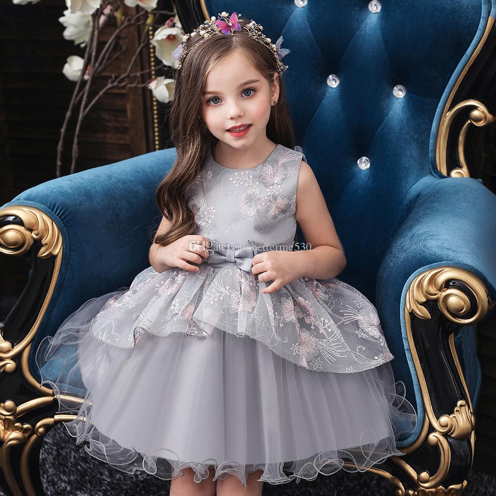 High quality Children's clothing baby age dress girls performance birthday party costume children evening dress princess dress