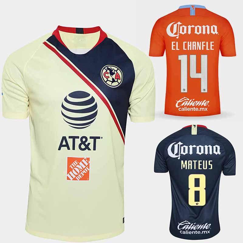 03ea4af74 2019 2018 2019 Club America 3rd Soccer Jersey Orange 18 19 Club De Futbol  America Home Football Shirt Black Goalkeeper Camiseta De Futbol From  Bet best