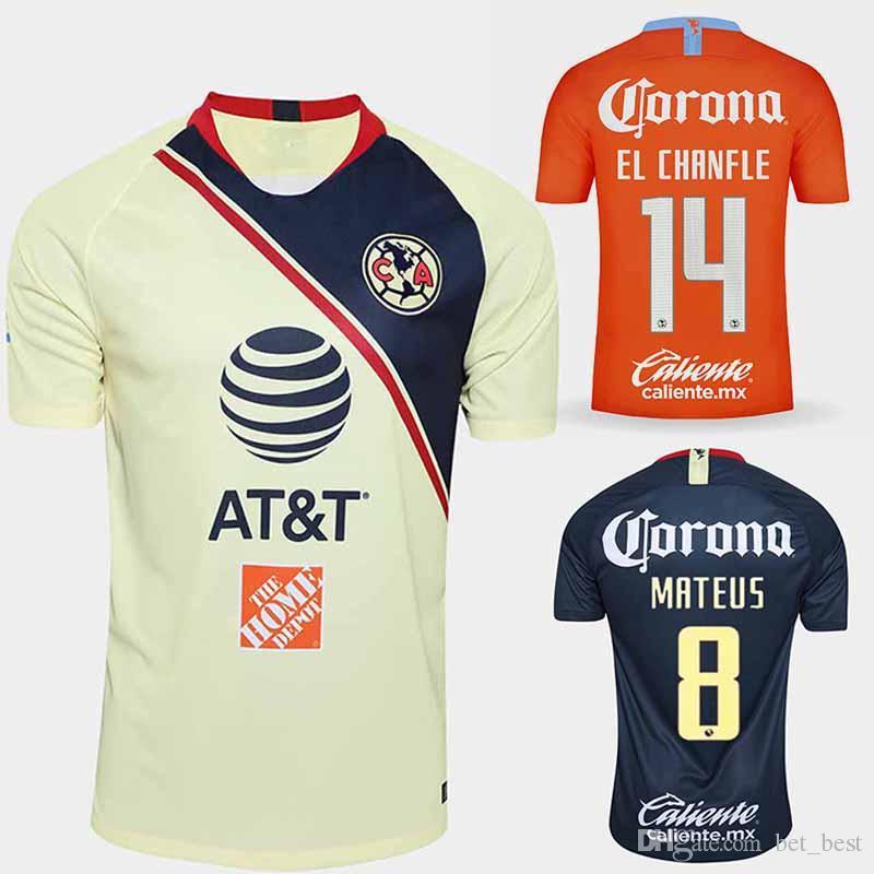 detailed look 34052 42502 2018 2019 Club America Tercer Jersey de fútbol Naranja 18/19 Club de Fútbol  América Camiseta de fútbol local Fútbol Negro Portero Camiseta de futbol