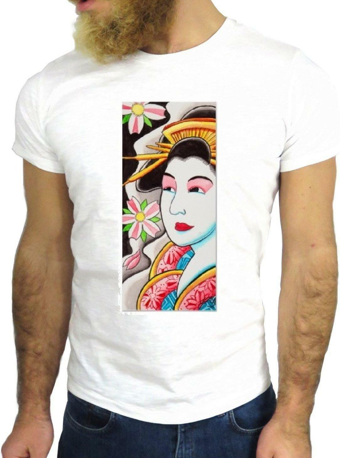 T-SHIRT JODE GGG24 Z1810 GEISHA CARTOON COULEURS COOL GREAT CHINA JAPAN FASHION EN Hommes Femmes Unisexes T-shirt Livraison Gratuite