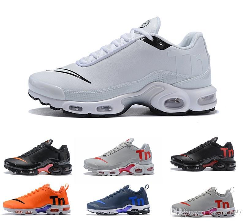 3a5d28d5 Купить Оптом 2019 Новый Air Mercurial Plus TN Ultra SE Черный Белый Синий  Коричневый Открытый Обувь Открытый TN Обувь Женщины Мужские Тренеры Мужские  ...