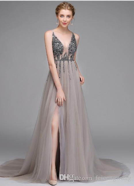 e8a0a2dd873 2019 New Sexy Long Bride Toast Clothing Evening Dress High End Custom  European And American Foreign Trade Dinner Dress Wholesale Formal Evening  Dresses Uk ...