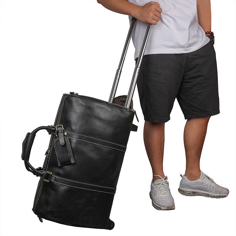 97ec93c3ef 21inch Leather Travel Trolley Luggage Bag
