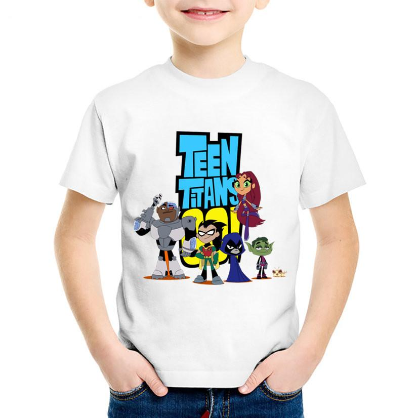 2019 Cartoon Print Teen Titans Go Children T Shirts Kids Summer Funny Short  Sleeve Tees Boys/Girls Casual Tops Baby Clothing,HKP5129 From Cynthia07, ...