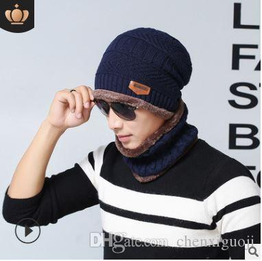 Z549,11,Winter hat, headgear, bib suit, plus velvet thickening, wool cap, men and women, autumn and winter men's knit hat.