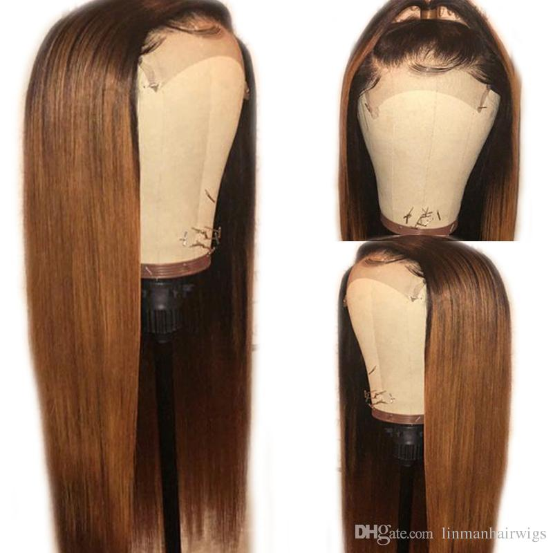 Bleached Knots Lace Frontal Human Hair Wigs For Black Women Brazilian Remy Hair Wig Pre Plucked With Baby Hair Full Lace Wig