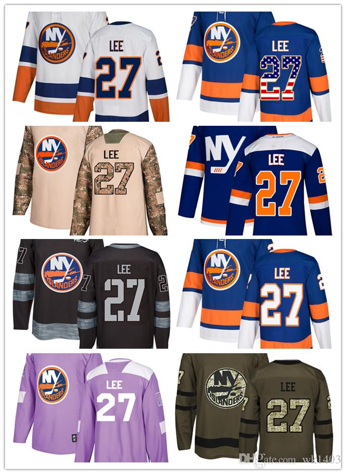 wholesale dealer a4103 abc13 New York Islander jerseys #27 Anders Lee Jersey hockey men women youth  white blue home away Stiched authentic Alternate Premier Jerseys