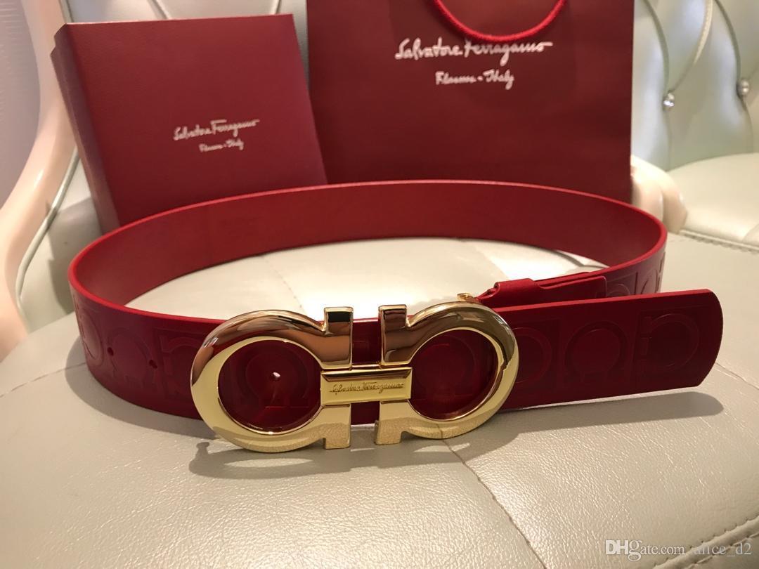 7337050518f8 Acheter AAA Livraison Gratuite Top Qualité 100% Cuir Boucle Dames 4.3CM  Ceinture Mode Business Belt Designer Ms 1  1 Ceinture 125CM Avec Boîte  Originale De ...
