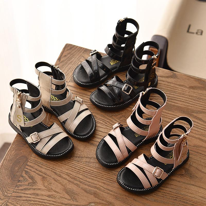 New Baby girls sandals 2019 summer Fashion Kids princess sandals children Sandy beach shoes 3 colors Roman shoes B11