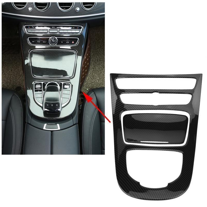 Car Center Control Gear Shift Panel Decorative Trim Carbon Fiber For