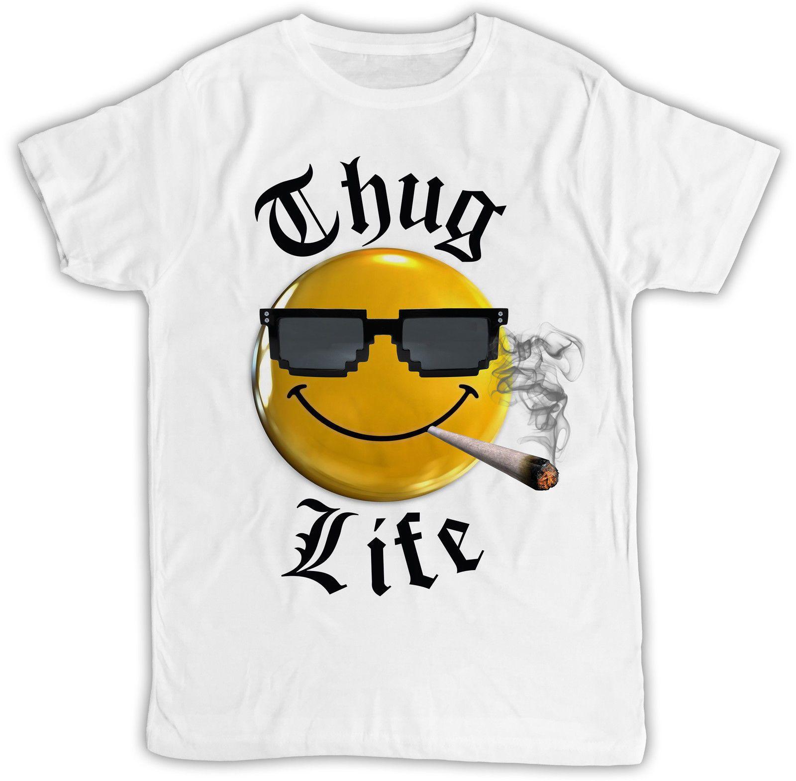 ffc9a977bca2 FUNNY THUG LIFE IDEAL GIFT BIRTHDAY PRESENT DESIGNER SHORT SLEEVE MENS T  SHIRT O Neck T Shirt Casual O Neck Print Tops T Shirts Men Shirt Online  Cartoon T ...