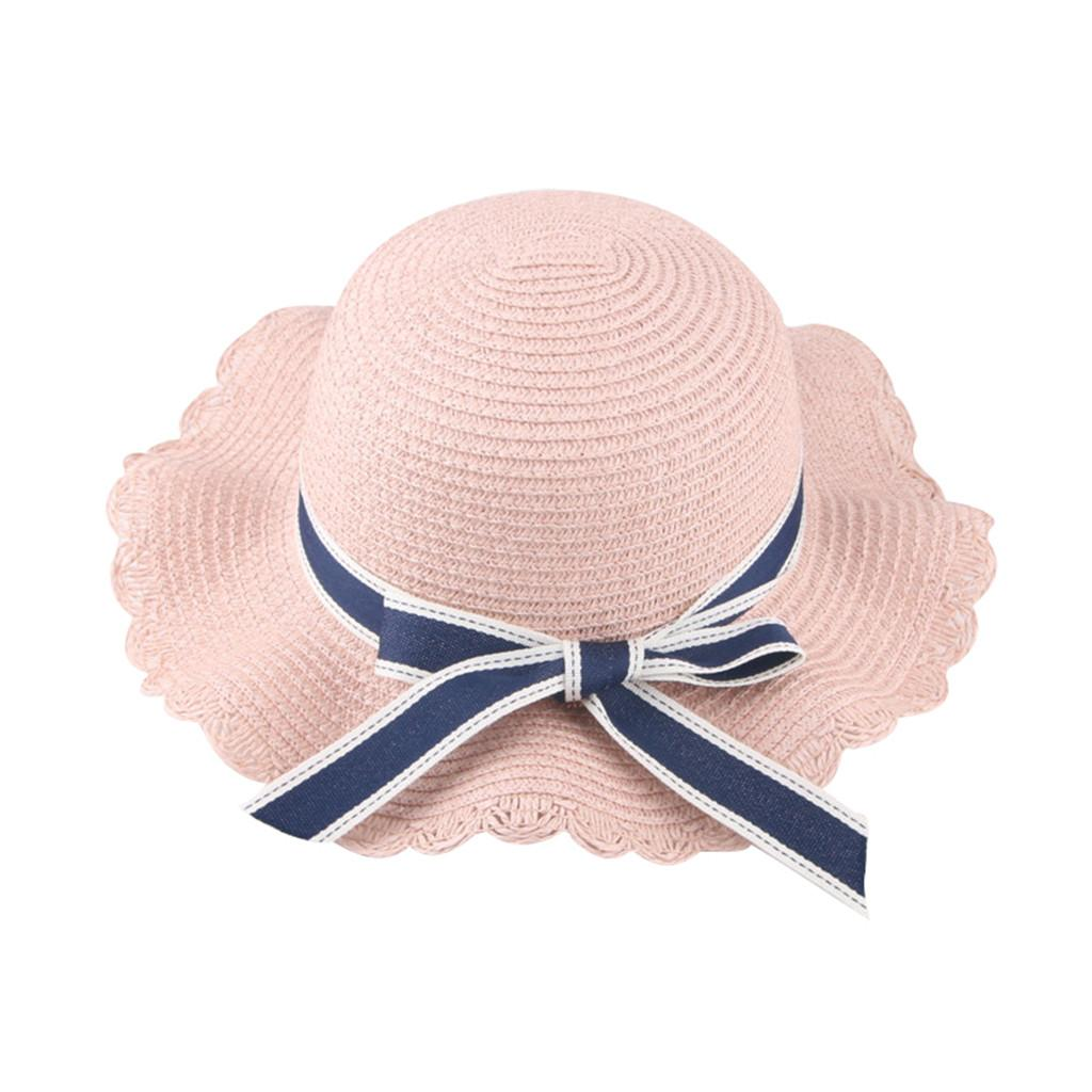 7e8278669a9 2019 ARLONEET Kids Straw Hat Childrens Summer Sun Caps Children Hats For  Girls Beach Hat Flower Cap For 2 8Y Baby Bucket Cap From Sugarher