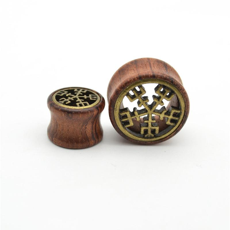 ORGANIC WOOD Wooden Plug Ear DOUBLE FLARE Saddle Flesh Tunnel Stretcher  Expander 8mm 20mm Body piercing Jewelry wholesale