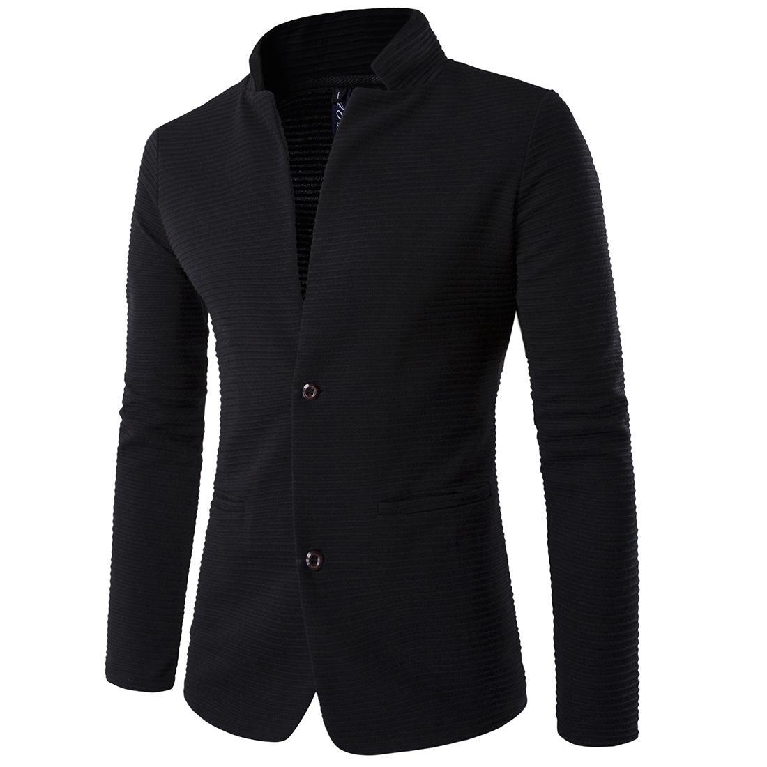 3e36b800c Brand Clothing Casual Blazers Men Fashion Plus Size Business Slim Fit  Jacket Suits Masculine Blazer Coat Button Suit Furry Black Coat Denim  Jacket Fleece ...