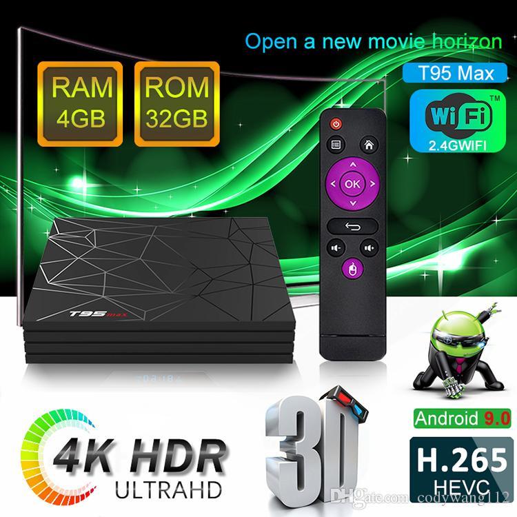 T95 MAX Allwinner H6 Smart Android 9 0 TV Box 4GB 32GB 4K H 265 USB3 0 IPTV  Set Top Box
