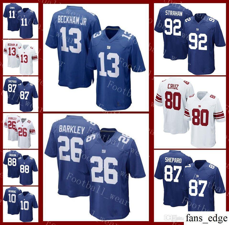save off c6a12 3abf9 New York Jersey 13 Odell Beckham Jr 26 Saquon Barkley 10 Eli Manning 21  Landon Collins Giants 56 Lawrence Taylor Eli Apple Football