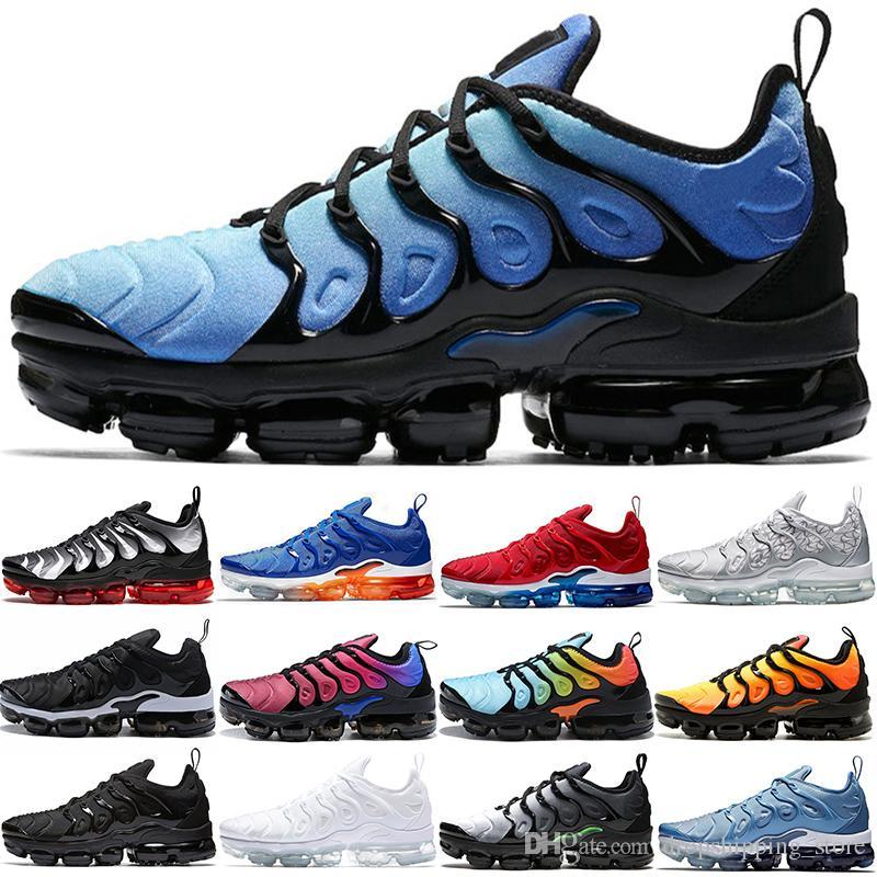 6b60ca0320ead Cheap TN Plus Men Women Running Shoes Sunset Triple Black White Game ...