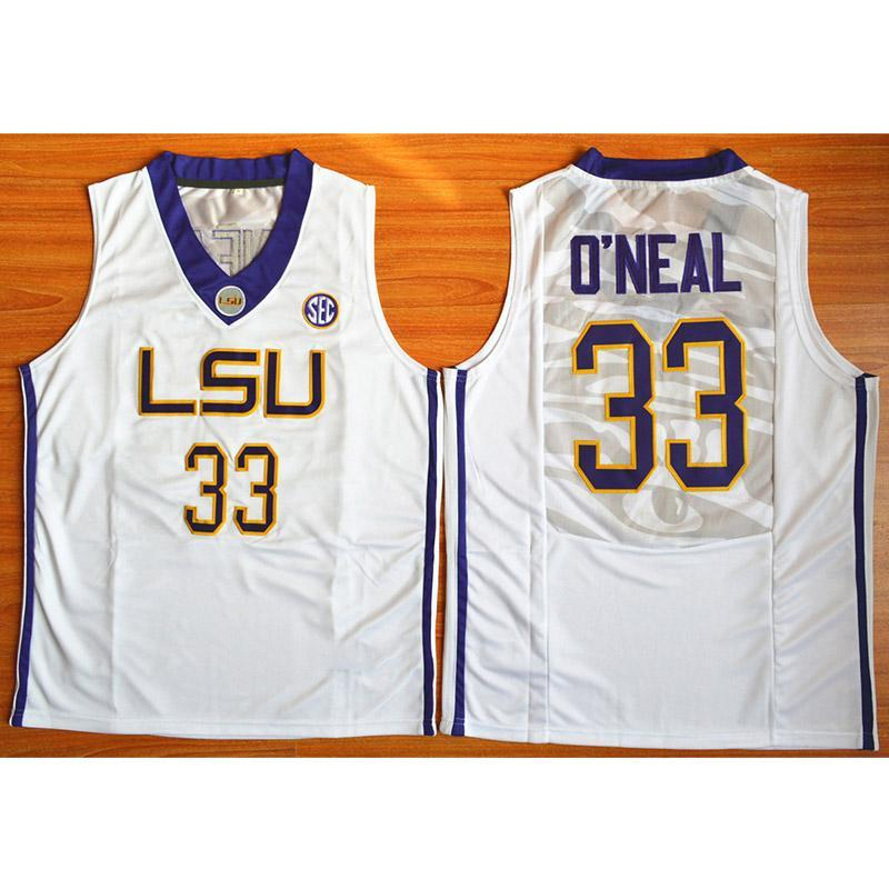 new product b2591 f4c43 Mens Shaquille ONeal Jersey Collection LSU Tigers College Basketball  Jerseys High Quality Stitched Name&Number Size S-2XL