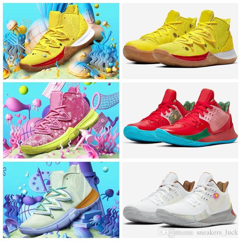 2019 New Arrival Mens Womens Kyrie spong Shoes TV PE Designer Shoes 5 For Cheap 20th Anniversary x basketball shoes 5s Luxury Sneakers