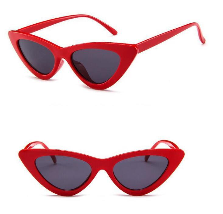 Fashion small frame cat eyes sunglasses Women Brand Designer Vintage Triangular Sun Glasses Vintage Shades