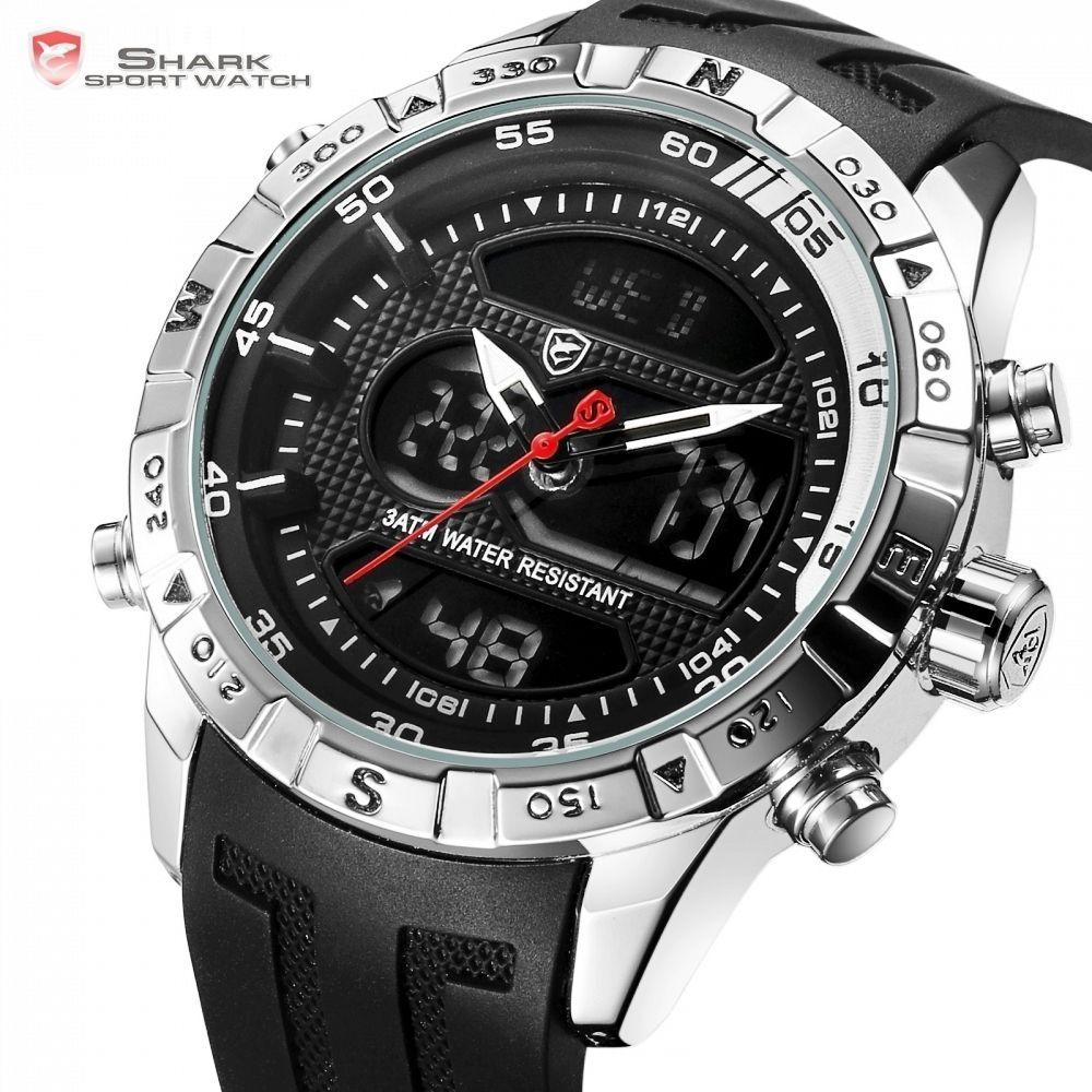 166b505db2c0 Compre Hooktooth Shark Reloj Deportivo Para Hombres Doble Movimiento ...