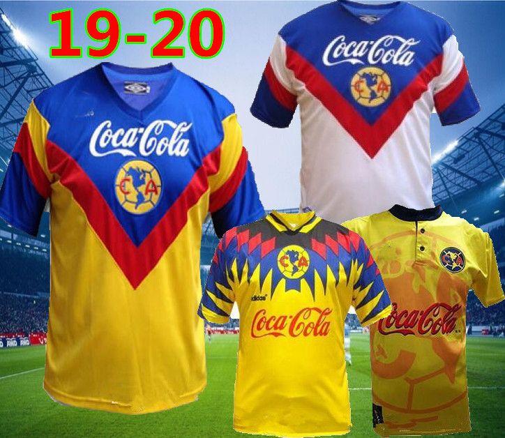 513002d1e7e 2019 993 1994 CLUB AMERICA RETRO SOCCER JERSEYS 93 94 HOME AWAY 95 96 99  MEXICO LEAGUE 1999 JERSEY FOOTBALL 1995 1996 SHIRTS From Guangxuan201312,  ...