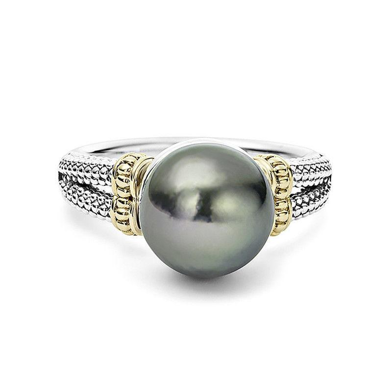 Vintage Synthetic pearl Ring Elegant Silver color Wedding Engagement party Rings for Women 2019 Luxury Brand Bague Femme Anillos