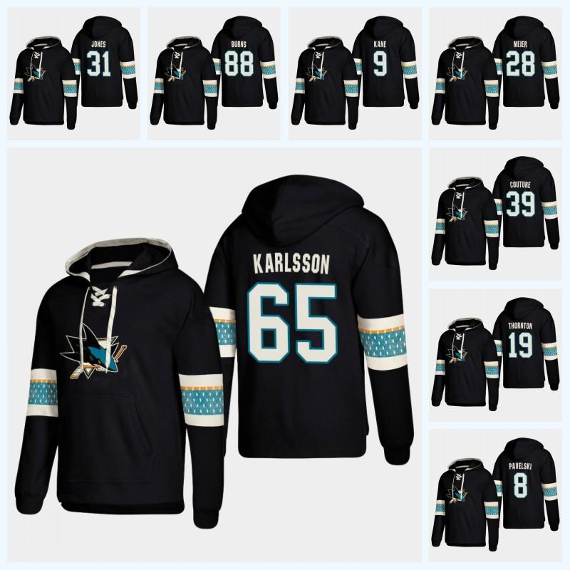 Erik Karlsson San Jose Sharks 2019 New Stlye Hoodie Brent Burns ... f939a6089